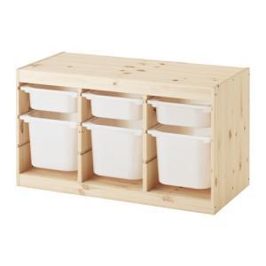 IKEA・イケア おもちゃ箱・子供収納 TROFAST(トロファスト) 収納コンビネーション, パイン材 ホワイト, ホワイト (991.026.60)