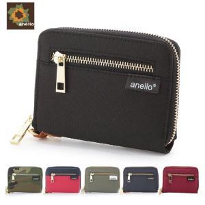 アネロ 財布 二つ折り anello レディース メンズ 折り財布 ブランド 定番 ハーフウォレット こども 二つ折り財布 ファスナー 小銭入れあり|moccasin