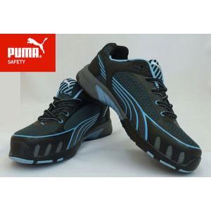 PUMA(プーマ) レディース安全靴 ヒューズモーション ウイメンズ ブルー 女性用 もれなく粗品プ...