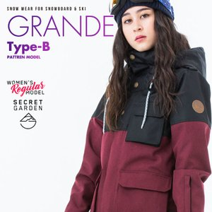 スノーボードウェア レディース スキーウェア スノボウェア 上下セット ジャケット パンツ SECRET GARDEN GRANDE-B 2018-2019 新作