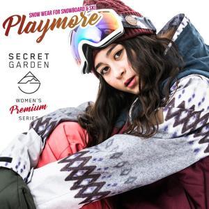 スノーボードウェア レディース スキーウェア スノボウェア 上下セット ジャケット パンツ SECRET GARDEN PLAYMORE 2017-2018 新作