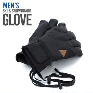 スノーボード スキーグローブ メンズ スキー グローブ 手袋...