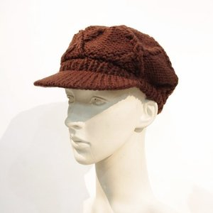 fev11SP03 ニットキャスケット ブラウン 帽子 フェブ fev|mocosh