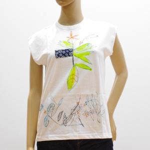 スーザンチャンチオロ Susan Cianciolo Tシャツ NO7 ノースリーブ ホワイト C|mocosh
