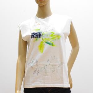 スーザンチャンチオロ Susan Cianciolo Tシャツ NO7 ノースリーブ ホワイト B|mocosh