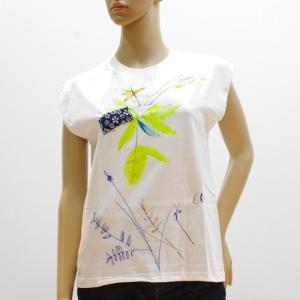 スーザンチャンチオロ Susan Cianciolo Tシャツ NO7 ノースリーブ ホワイト E|mocosh