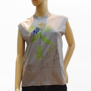 スーザンチャンチオロ Susan Cianciolo Tシャツ NO7 ノースリーブ グレー B|mocosh