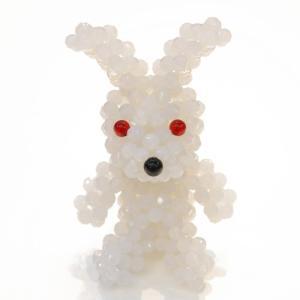 MOCOSH OTHERS / beads doll_Rabbit_white*|mocosh