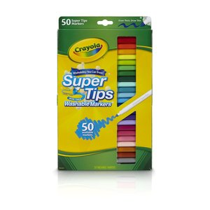 クレヨラ お絵かき 水でおとせる カラーリングマーカー 50色 Super Tips Washable Markers 585050|mocotto