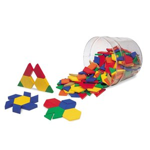 Learning Resources Pattern Blocks パターンブロック (プラスチック製:250個セット) 正規品|mocotto