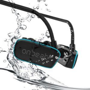 ワイヤレスイヤホン 完全防水 MP3プレーヤー アウトドア  IPX8 耳栓 スイミング 川 海 入...