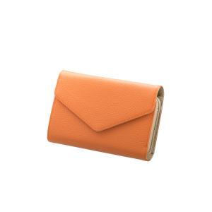 modaMania モーダマニア 財布 ラウンドファスナー オレンジ×ゴールド ストラップ ベルト ...