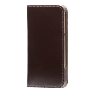 iPhone SE ケース iPhone 5s/5 ケース 手帳型ケース  コードバン / チョコ modaMania モーダマニア 高級 ブランド イタリアンレザー