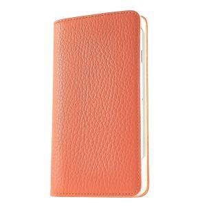 iPhone 7 ケース 手帳型ケース アドリア / オレンジ modaMania モーダマニア 高級イタリアンレザー シュリンクレザー