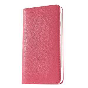 iPhone 7 ケース 手帳型ケース アドリア / ピンク modaMania モーダマニア 高級イタリアンレザー シュリンクレザー