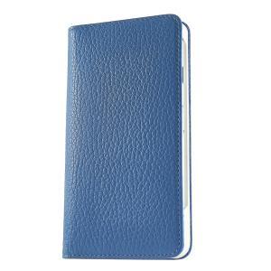 iPhone 7 ケース 手帳型ケース アドリア / ブルー modaMania モーダマニア 高級イタリアンレザー シュリンクレザー