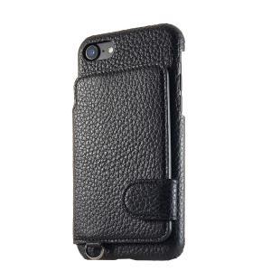 iPhone 7 ケース 背面ポケットケース RAKUNI × modaMania / 墨 -boku- モーダマニア ラクニ 高級イタリアンレザー