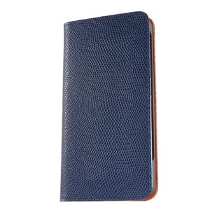 iPhone 7 Plus ケース 手帳型ケース ルクス / ネイビー modaMania モーダマニア 高級イタリアンレザー スマホケース