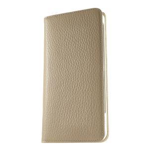 iPhone 7 Plus ケース 手帳型ケース アドリア / グレージュ modaMania モーダマニア 高級イタリアンレザー