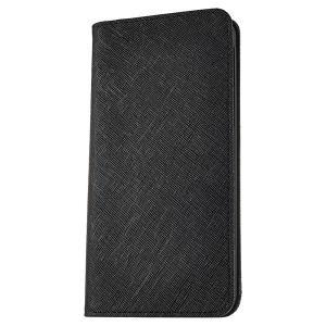 iPhone 7 Plus ケース 手帳型ケース サライ / ブラック modaMania モーダマニア 高級イタリアンレザー スマホケース