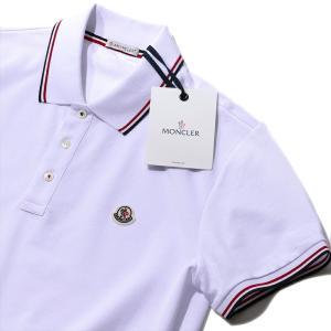 モンクレール 鹿の子 ポロシャツ8305500 001ホワイ...