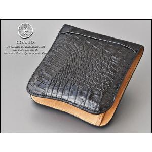 ★ 送料無料 GODANE二つ折り財布 メンズ 財布 ワニ革 SPCW-8003cpBK(godan-15)