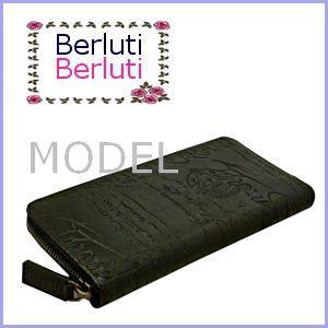 ベルルッティ Berluti 財布 サイフ さいふ メンズ 財布 カリグラフィ 長財布|model