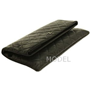 シャネル CHANEL バッグ クラッチバッグ ココマーク シルバー 黒/ブラック A69391|model|03