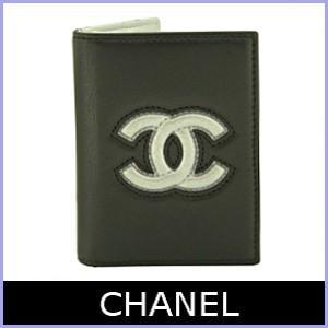 シャネル CHANEL パスケース カードケース 黒/ブラック×シルバー A80954 【訳あり】 model