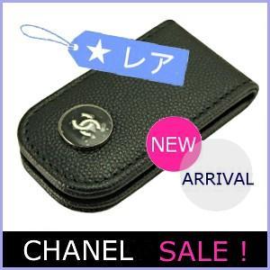 シャネル CHANEL メンズ 財布 マネークリップ 2016 新作 キャビアスキン 黒/ブラック A84054|model