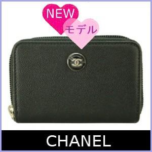 シャネル CHANEL コインケース 小銭入れ 2016 新作 キャビアスキン CCボタン 黒/ブラック A84061|model