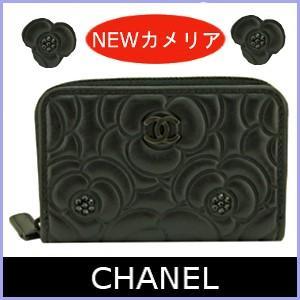 シャネル CHANEL コインケース 小銭入れ 2017 秋冬 新作 カメリア 黒/ブラック A82551|model