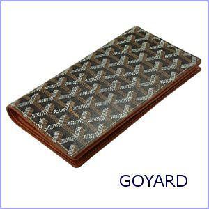 ゴヤール GOYARD 財布 サイフ さいふ メンズ財布 長財布 小銭入れ付き ブラック×ブラウン|model