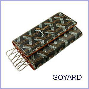 ゴヤール GOYARD キーケース ブラック×ブラウン|model
