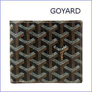ゴヤール GOYARD 財布 サイフ さいふ メンズ財布 二つ折り財布 小銭入れ付き ブラック×ブラック|model