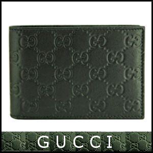 グッチ GUCCI メンズ 財布 二つ折り グッチシマ 黒/...