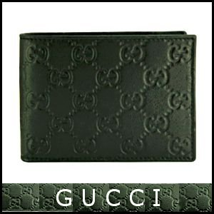 グッチ GUCCI 財布 メンズ財布 二つ折り グッチシマ 黒/ブラック アウトレット 143384|model