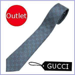 グッチ GUCCI ネクタイ メンズ GG柄 ブルー/青 アウトレット 408865