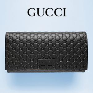 グッチ GUCCI 長財布 レディース 財布 グッチシマ 黒/ブラック アウトレット 449396|model
