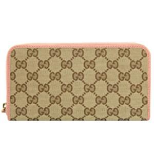 グッチ GUCCI 財布 レディース 長財布 GGキャンバス×ピンク アウトレット 363423|model|02