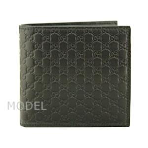 グッチ GUCCI 財布 メンズ 二つ折り財布 グッチシマ 黒/ブラック アウトレット 150413|model|02