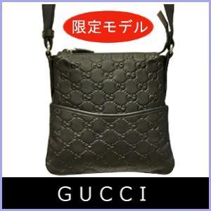 グッチ GUCCI バッグ メンズ ショルダーバッグ グッチシマ 黒/ブラック 374416 アウトレット|model