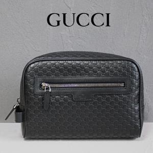 グッチ GUCCI バッグ メンズ セカンドバッグ マイクログッチシマ 黒/ブラック 419775 アウトレット|model