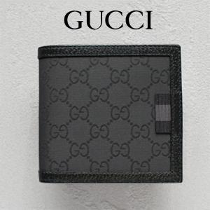 a03057df1dbe グッチ GUCCI メンズ 財布 二つ折り財布 GGナイロン 黒/ブラック アウトレット 150413