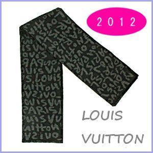 ルイヴィトン LOUIS VUITTON マフラー ストール メンズ エシャルプ グラフィティ グリノワール M74651|model