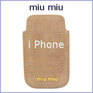 miu miu ミュウミュウ iPhoneケース MIUMIU モバイルケース 5ARE42 アウトレット|model