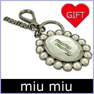 ミュウミュウ miumiu キーリング クリスタル 人気 5TM092 アウトレット|model