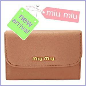 ミュウミュウ miumiu 財布 新作 財布 二つ折り ピン...
