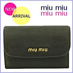 ミュウミュウ 財布 miumiu  財布 レディース 二つ折り財布 マドラス 黒/ブラック 新作 5M1373|model