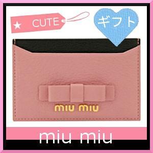 ミュウミュウ miumiu 名刺入れ カードケース ピンク ...
